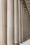 Fluted Stone Columns. Classic, fluted stone architectural columns Stock Photo
