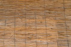 Fluted texture from wooden rods Royalty Free Stock Image