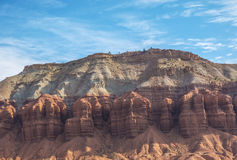 Fluted wall in Utah Royalty Free Stock Images