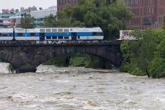 Fluten Prag 2013 Stockbilder