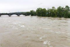 Fluten Prag im Juni 2013 Stockbild