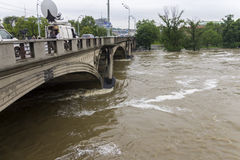 Fluten Prag im Juni 2013 Lizenzfreie Stockbilder