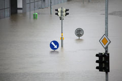 Fluten in Prag, Tschechische Republik, im Juni 2013 Lizenzfreies Stockbild