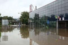 Fluten in Prag, Tschechische Republik, im Juni 2013 Lizenzfreie Stockfotos