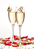 Flutes of champagne Royalty Free Stock Photography
