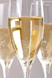 Flutes of champagne Stock Images