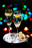 Flutes of champagne Stock Photos