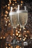 Flutes of champagne Stock Image