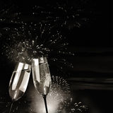 Flutes of champagne Royalty Free Stock Images