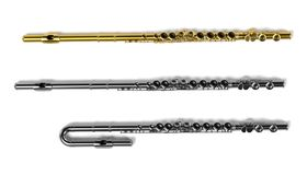 Flutes (musical instrument). 3d renderings of flutes (musical instrument Stock Images