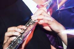 flutist royaltyfri bild