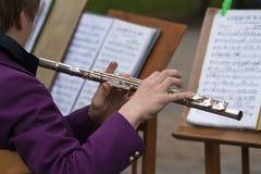 flutist arkivbild