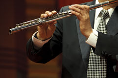 Flutist on concert Stock Photos