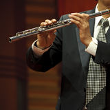 Flutist on concert Stock Photo