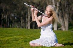 Flutist da mola Imagens de Stock Royalty Free