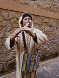 Flutist marroquino da rua Imagens de Stock
