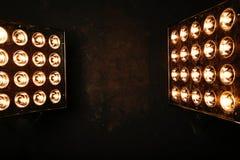 Flutlicht-Blitzlichter scheinwerfer Stockfotografie