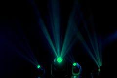 Flutlichter zum Belichten von Glühen in der Dunkelheit Stockbilder