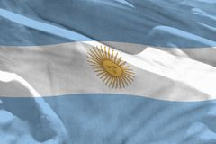 Waving Argentina flag for using as texture or background, the flag is fluttering on the wind. Fluttering Argentina flag for using as texture or background, the stock images