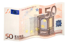 Fluttering euro Royalty Free Stock Photos