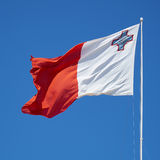 The fluttering flag of Malta. Stock Image