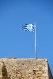 Fluttering Greek flag Stock Images