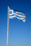 Fluttering Greek flag Royalty Free Stock Photography