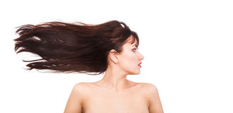 Fluttering hair Royalty Free Stock Images