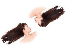 Fluttering hair Stock Photos