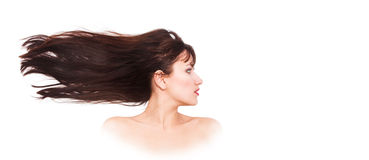 Fluttering hair Stock Photography