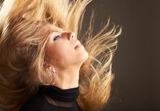 Fluttering hair Stock Image