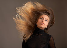 Fluttering hair Royalty Free Stock Photo