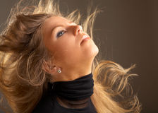 Fluttering hair Royalty Free Stock Image