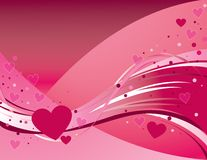 Fluttering Hearts. Valentine's day theme - pink hearts fluttering all over the place Royalty Free Stock Photos