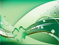 Fluttering Shamrocks. Saint Patrick's Day Theme - shamrocks fluttering all over the place Stock Photography