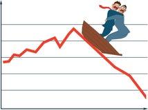 Fluttuazione del mercato Immagine Stock