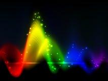 Fluttuazioni dell'onda del Rainbow Fotografia Stock