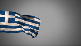 Flutuação da bandeira nacional de Grécia ilustração do vetor