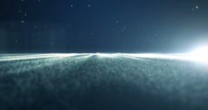 flutuação da energia de 4K Loopable em um espaço profundo ilustração stock