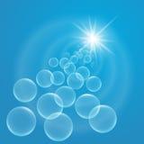 Flutuação das bolhas Foto de Stock