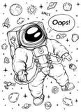Flutuação do astronauta Rebecca 36 Fotos de Stock