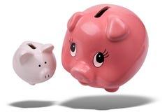 Flutuação dos bancos Piggy Imagens de Stock