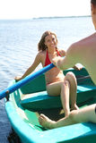 Flutuação no barco Foto de Stock