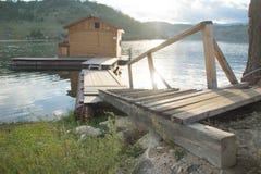 Flutuação no tipo do russo dos pontões de sauna fotos de stock royalty free
