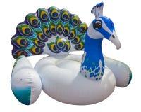 Flutuador colorido gigante do pavão Flutuador inflável imagem de stock royalty free