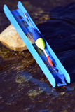 Flutuador com um suporte fotografia de stock royalty free