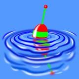 Flutuador da água de pesca imagem de stock royalty free