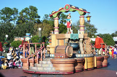Flutuador da parada de Pinocchio no mundo Orlando de Disney Foto de Stock