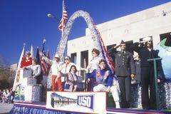 Flutuador da USO na parada do dia do veterano fotos de stock