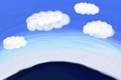 Flutuador das nuvens acima do horizonte Foto de Stock Royalty Free